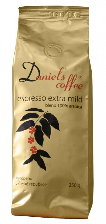 Daniels coffe 100% arabica - espresso extra mild 250 g