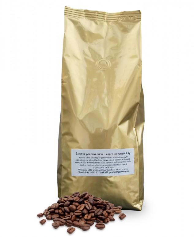 Čerstvá pražená káva - espresso GOLD 1 Kg