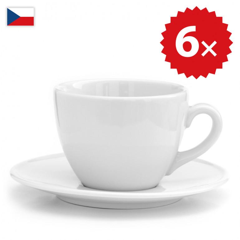 6 × Šálek na cappucino - český porcelán 200 ml