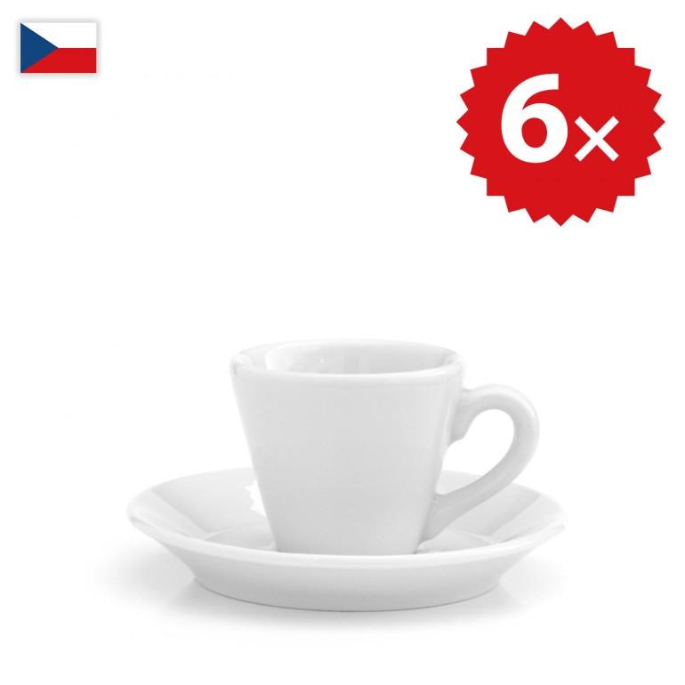 6 × Šálek na espresso a ristretto - český porcelán 50 ml, OFICIÁLNÍ DISTRIBUCE