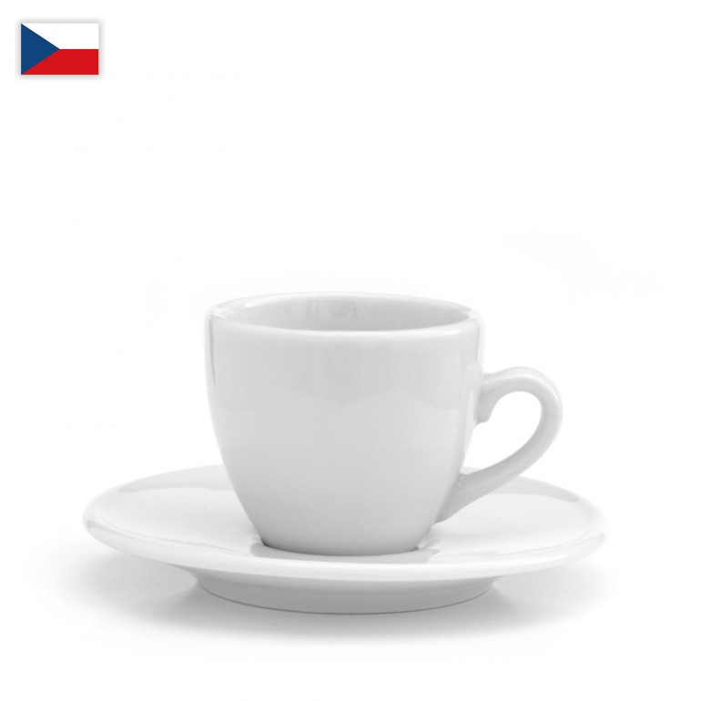 Šálek na espresso oblý - český porcelán 90 ml, OFICIÁLNÍ DISTRIBUCE