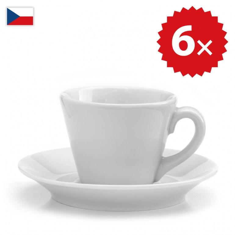 6 × Šálek na lungo - český porcelán 130 ml, OFICIÁLNÍ DISTRIBUCE