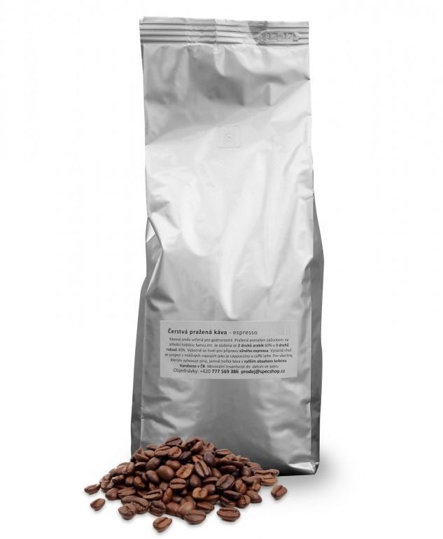 Čerstvá pražená káva - espresso SILVER 250 g