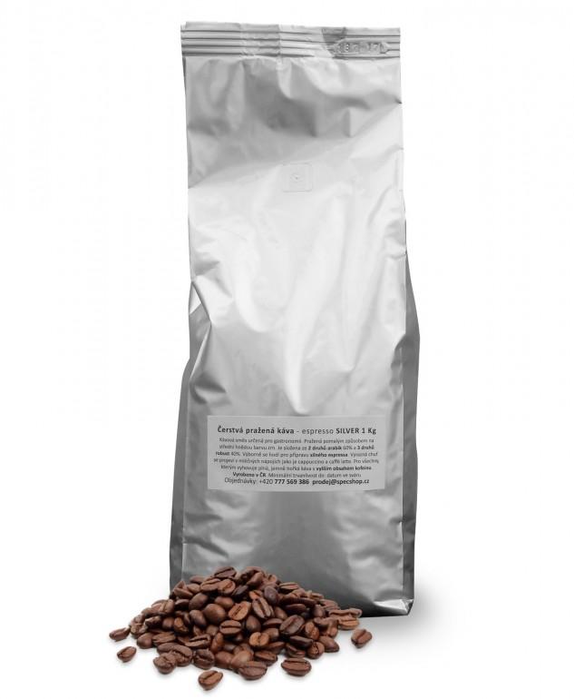 Čerstvá pražená káva - espresso SILVER 1 Kg